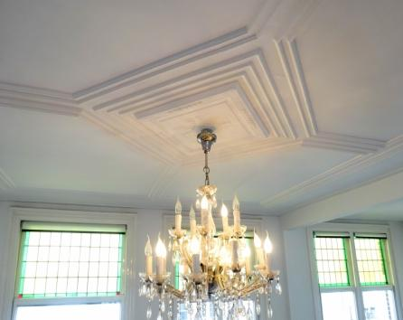 Many original features have been preserved including the ornamental ceiling trim