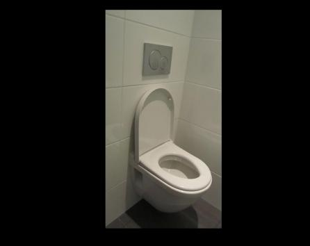 We chose a compact toilet size to give you plenty of space